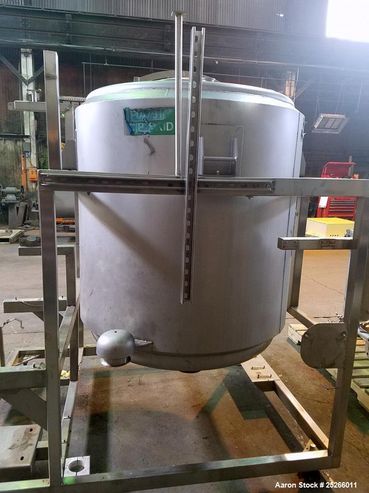 Used- Martin Petersen Tank, Approximate 300 Gallon, Stainless Steel,