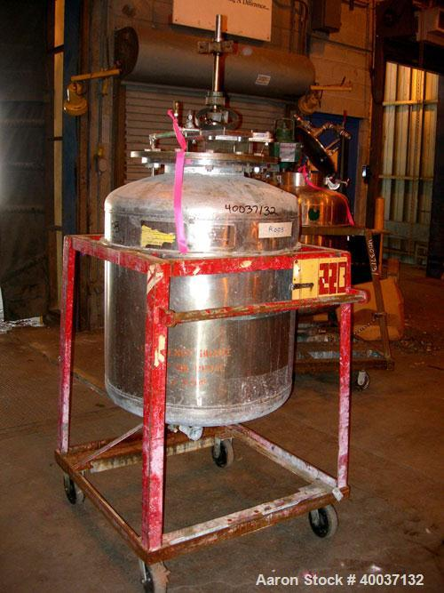 """Used-Used: Buckley Iron Works pressure tank, 100 gallon, stainless steel, vertical. 30"""" diameter x 30"""" straight side, dished..."""