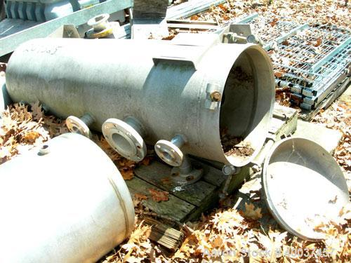 "Used- Lipton pressure tank, 80 gallon, stainless steel, vertical. 20"" diameter x 56"" straight side. Dished bolt on top, dish..."