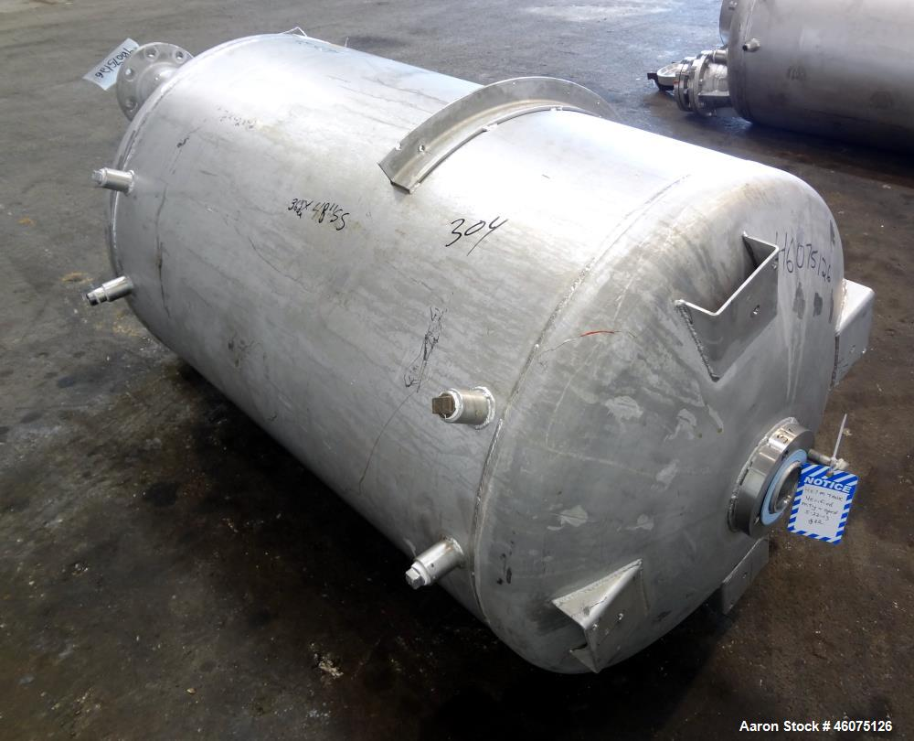 "Used- Tank, 225 Gallon, 304 Stainless Steel, Vertical. Approximate 36"" diameter x 48"" straight side, dished top & bottom. Sh..."