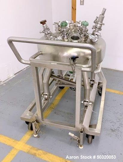 Used- Inox'ouest Pressure Mix Tank, 100 Liter, 316 Stainless Steel, Vertical.