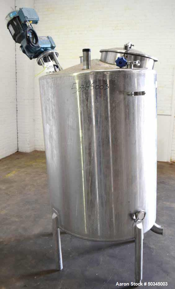 Used- APT Advanced Process Technology Tank, 200 Gallon, Stainless Steel, Vertica
