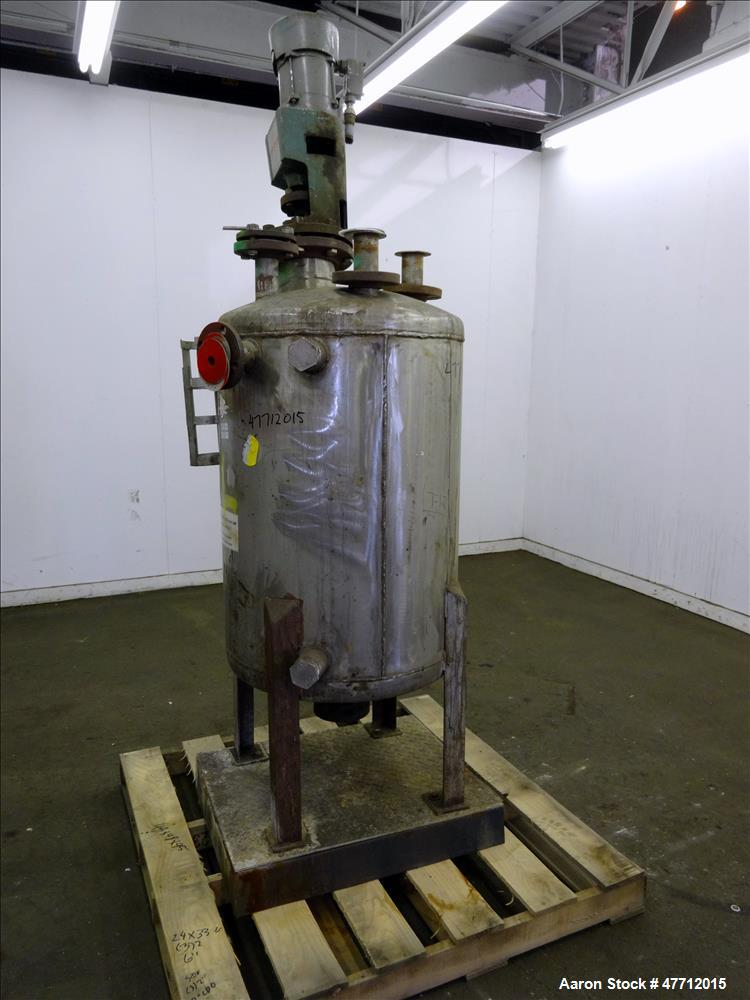 Used- Tank, Approximate 80 Gallon, 304 Stainless Steel, Vertical.