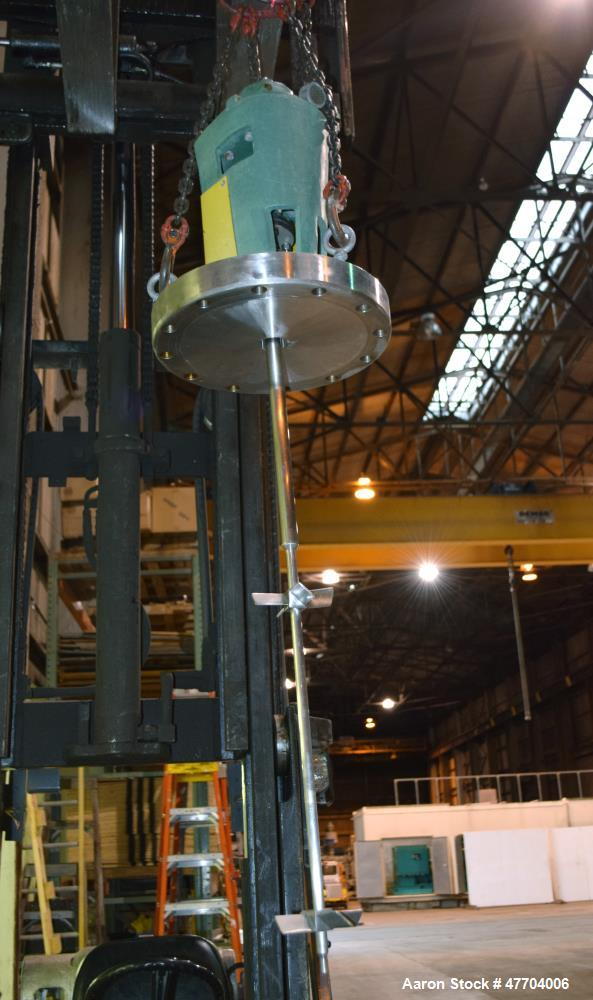 "Used- Alloy Fab Pressure, 46 Gallon, 316L Stainless Steel, Vertical. 30"" Diameter x 32"" deep coned vessel. Dished top. Inter..."