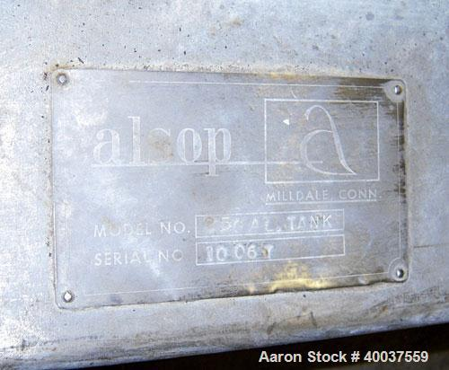 "Used- Alsop Tank, 25 gallon, stainless steel, vertical. 18"" diameter x 22"" straight side. Open top with a 1/2 hinged cover, ..."