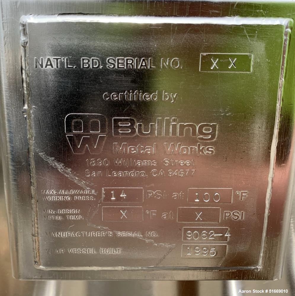 Bulling Metal Works Co 100 Liter (26 Gallon) Stainless Steel Tank