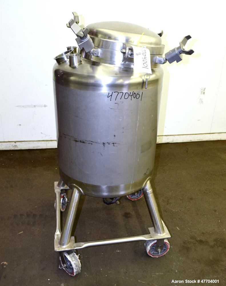 Used- DCI Pressure Tank, 50 Gallon, 316L Stainless Steel, Vertical.