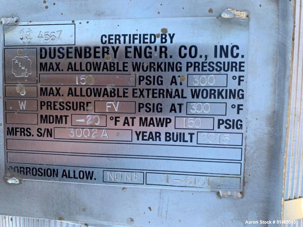 Stainless Steel 50 Gallon Pressure Tank