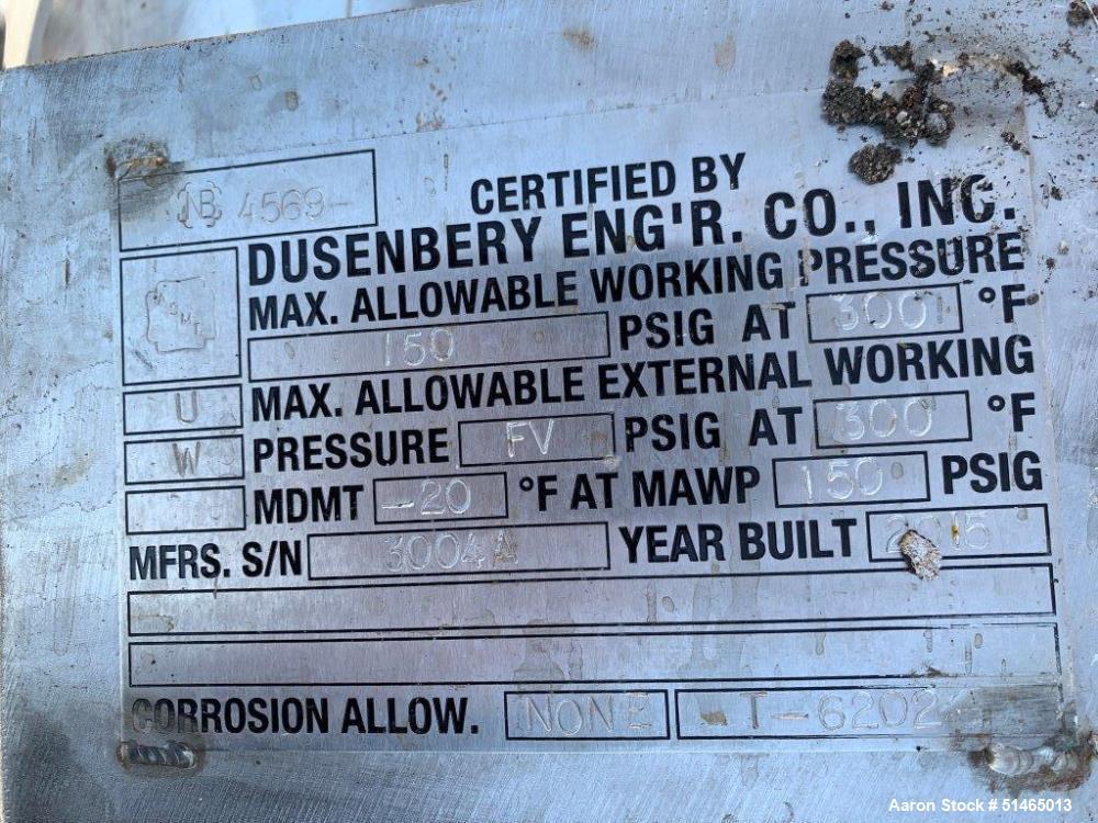 Stainless Steel 100 Gallon Pressure Tank