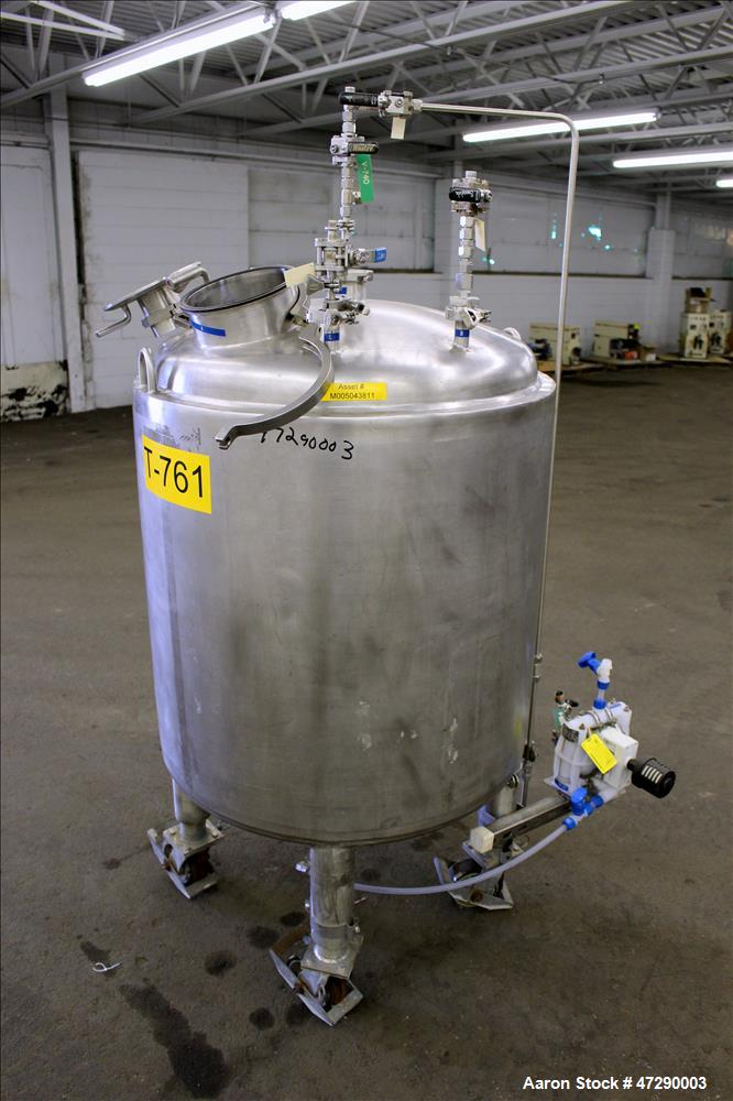 Used- Lee Industries Pressure Tank, Model 100 DBT, 100 Gallons, 316 Stainless St