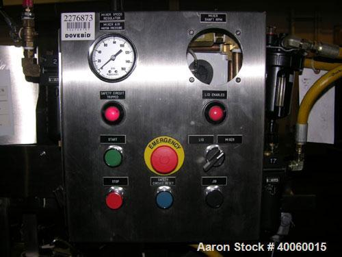 Used- Lee Double Motion Vacuum Receiver, 25 Gallon, Model 25SS9MT, Stainless Steel. Rated 75 psi /full vacuum @ 300 F, doubl...