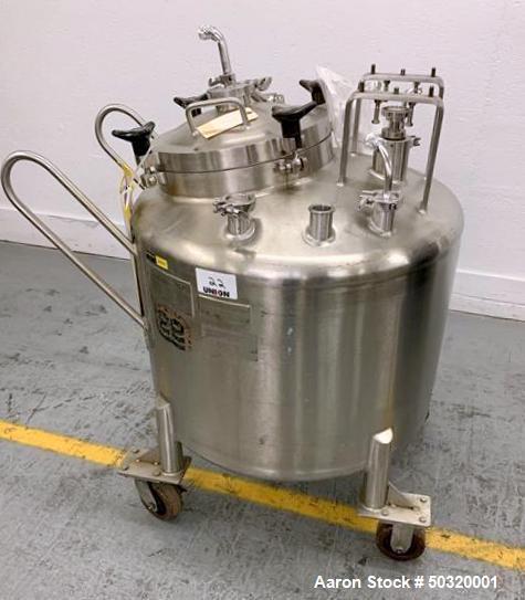 Used-Lee Industries 250 liter, Stainless Steel Vacuum Kettle, - 250L DBT, - Stainless Steel Vacuum Kettle- 250 Liter- Propel...