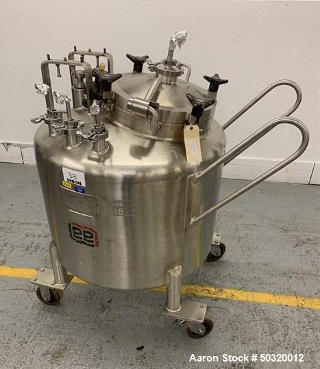 Used-Lee Industries 250 liter Stainless Steel Vacuum Kettle- 250L DBT- Stainless Steel Vacuum Kettle- 250 Liter- Propeller a...
