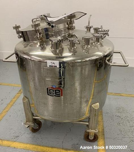 Used-Lee Industries 500 liter Vacuum Kettle- Vacuum Kettle- Stainless Steel- 500 Liter- 30 psi internal pressure- casters- a...