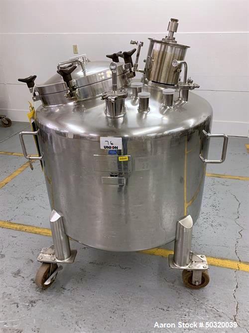 Used-Lee Industries 500 liter Vacuum Kettle- Vacuum Kettle- Stainless Steel- 500 Liter- Propeller agitator without motor- 30...