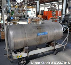 Mobile Tank, Approximate 630 Liter (166.48 Gallon), Stainless Steel, Horizontal. Approximate 27 dia...