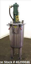 "Tank, Approximately 40 Gallons, 304 Stainless Steel, Vertical. 20"" Diameter x 30"" straight side. Bo..."
