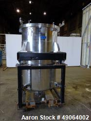 Used- Tank, Approximate 250 Gallon, 316 Stainless Steel, Vertical.