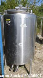 Used- Tank, Approximate Gallon, 316 Stainless Steel, Vertical.