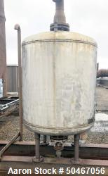 "Used-250 gallon Variety Steel Fab receiver tank, 304 stainless steel construction, approximately 42"" diameter x 40"" straight..."