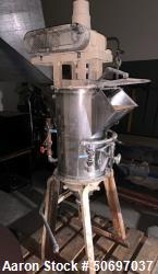 Used- Mix Tank, Approximately 50 Gallon, Stainless Steel, With Cone Drive.