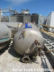 Used-Tank, Stainless steel, Approximately 325  Gallon, 3' diameter x 6', Dished heads. s/n 347, Yr. 1995.