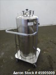 "Alloy Products Pressure Tank, 30 Gallon, 316L Stainless Steel, Vertical. Approximate 18"" diameter x..."