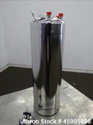 "d- Alloy Products Pressure Tank, 6 Gallon, 316L Stainless Steel, Vertical. Approximately 9"" diameter..."