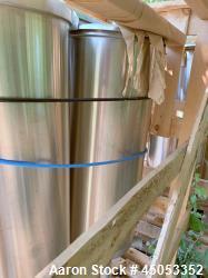 "D- APV Crepaco 20 Gallon Single Wall Stainless Steel Tank. Has 2.5"" sprayball with a 270 degree patt..."