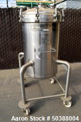 "Used-  Cherry-Burrell Pressure Tank, 200 Liter (52 Gallon), 316L Stainless Steel, Vertical. Approximate 24"" diameter x 31"" s..."