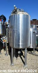 "Used- DCI Pressure Tank, 900 Liter (237 Gallon), 316L Stainless Steel, Vertical. 35-3/4"" Diameter x 51-1/2"" straight side, d..."
