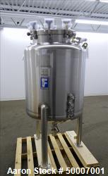 Unused- Feldmeier Tank, 500 Liter (132.8 Gallon), 316L Stainless Steel, Vertical