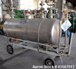 Inox AG Mobile Pressure Tank, 1000 Liter (264.25 Gallon), 316L Stainless Steel, Horizontal. Approxi...