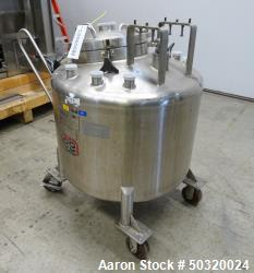 "Used- Lee Industries Pressure Mix Tank, 250 Liter, Model 250 LDBT, 316L Stainless Steel, Vertical. Approximate 30"" diameter ..."
