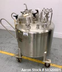 Used-Lee Industries 250 liter, Stainless Steel Vacuum Kettle, - 250L DBT, - Stainless Steel Vacuum Kettle- 250 Liter- Propel...