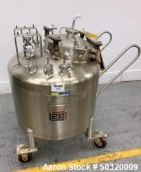 Used-Lee Industries 250 liter, Stainless Steel Vacuum Kettle- 250L DBT- Stainless Steel Vacuum Kettle- 250 Liter- Propeller ...