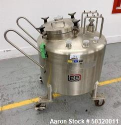 Used-Lee Industries 250 liter Stainless Steel Vacuum Kettle- 250L DBT- Stainless Steel Vacuum Kettle- 250 Liter- Propeller a...