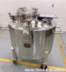 Used-Lee Industries 500 liter Vacuum Kettle- Vacuum Kettle- Stainless Steel 500 Liter-  30 psi internal pressure- casters- a...