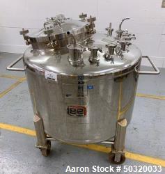 Used-Lee Industries 500 liter Vacuum Kettle - Vacuum Kettle- Stainless Steel- 500 Liter- 30 psi internal pressure- casters- ...