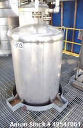"Used- Mueller Condensate Pressure Tank, 325 Gallon, 304L Stainless Steel, Vertical. 36"" Diameter x 72"" straight side, dished..."