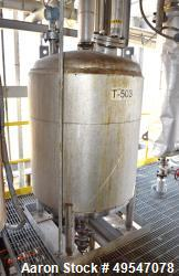 "Used- Mueller Surge Pressure Tank, 300 Gallon, 304L Stainless Steel, Vertical. 42"" Diameter x 47"" straight side, dished top ..."