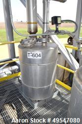 "Used- Mueller Glycerine Bottoms Surge Pressure Tank, 50 Gallon, 304L Stainless Steel, Vertical. 24"" Diameter x 24"" straight ..."