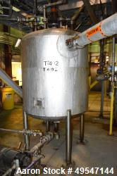 "Used- Mueller Pressure Tank, 400 Gallon, 304L Stainless Steel, Vertical. 48"" Diameter x 47"" straight side, dished top and bo..."