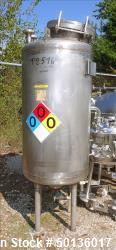 Used- Overly Inc. Pressure Tank, Approximate 150 Gallon, 304L Stainless Steel