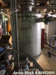 "Used- Perry Products Pressure Tank, 120 Gallon, 304L Stainless Steel, Vertical. 30"" Diameter x 36"" straight side, dished top..."