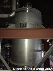 "Used- Perry Products Pressure Tank, 325 Gallon, 304L Stainless Steel, Vertical. 40"" Diameter x 60"" straight side, dished top..."