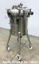Used- Precision Stainless Pressure Tank, 39.6 Gallon (150 Liter)