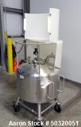 Used- Sharpsville Pressure Mix Tank, 200 Liter, 316L Stainless Steel