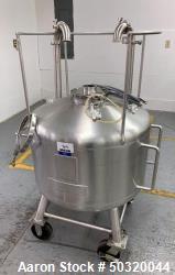 Used-Sharpsville Container Corp 200 liter Pressure Vessel Tank- 200 liter 316L Stainless Steel Pressure Vessel Tank- Bottom ...
