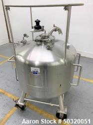 Used-Sharpsville Container Corp 200 liter Pressure Vessel Tank- 200 liter 316L Stainless Steel- Pressure Vessel Tank- Bottom...